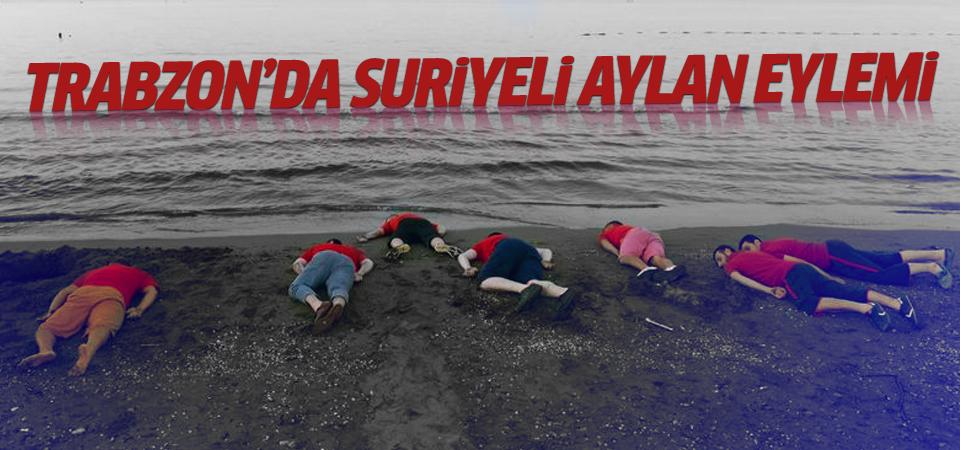 Trabzon'da Suriyeli çocuk için eylem yaptılar!