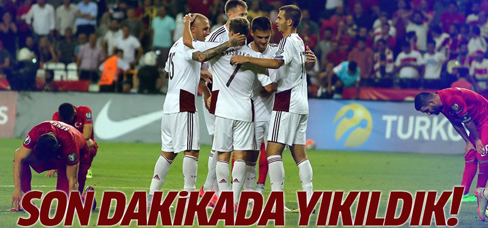 A Milli Takımımız Letonya ile berabere kaldı