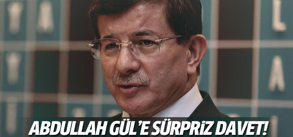 Davutoğlu'ndan Gül'e davet!