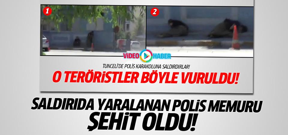 Tunceli'deki saldırıda 1 polis şehit oldu!
