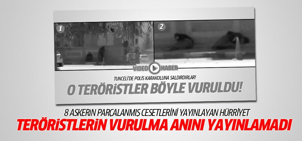 Hürriyet 2 teröristin öldürülme anını yayınlamadı