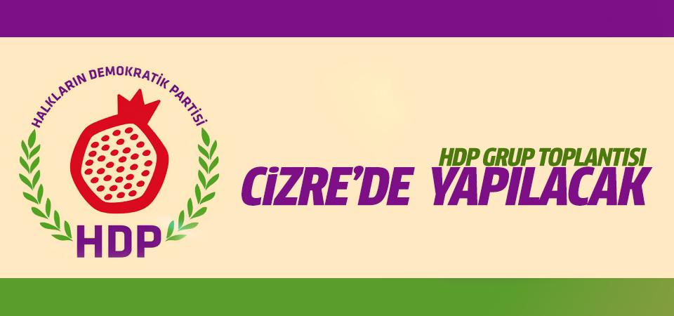 HDP Grup Toplantısını Cizre'de yapacak