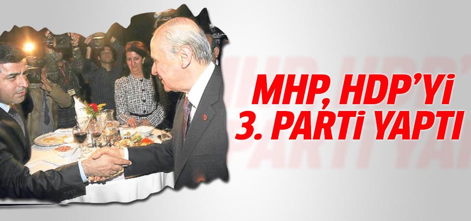 MHP, HDP'yi üçüncü parti yaptı