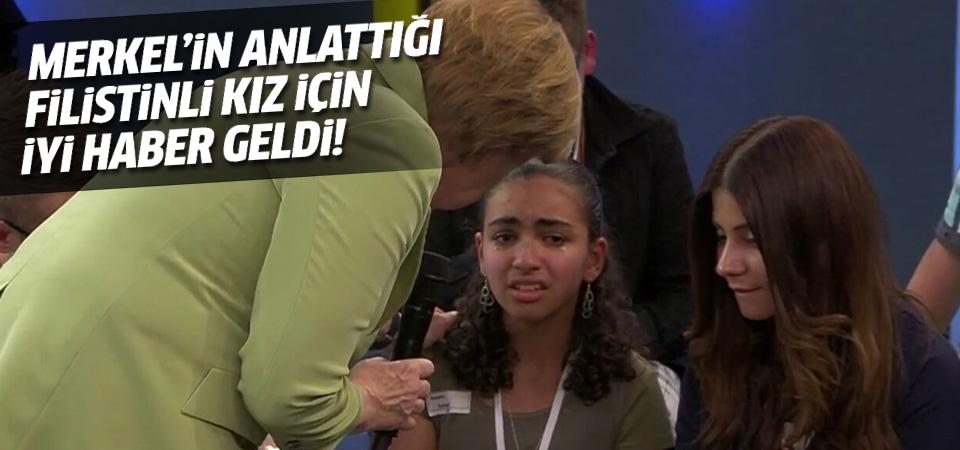 Angela Merkel'in ağlattığı Filistinli kıza oturma izni verildi