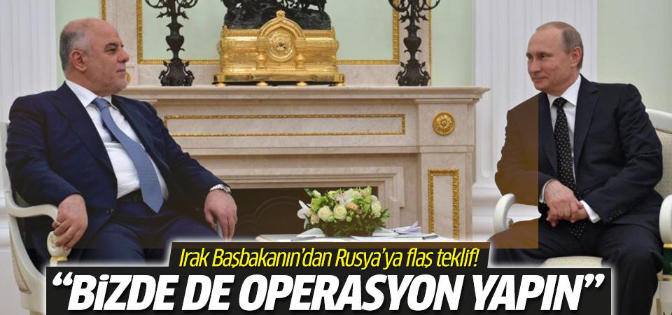 Irak'tan Rusya'ya 'burada da operasyon yapın' çağrısı