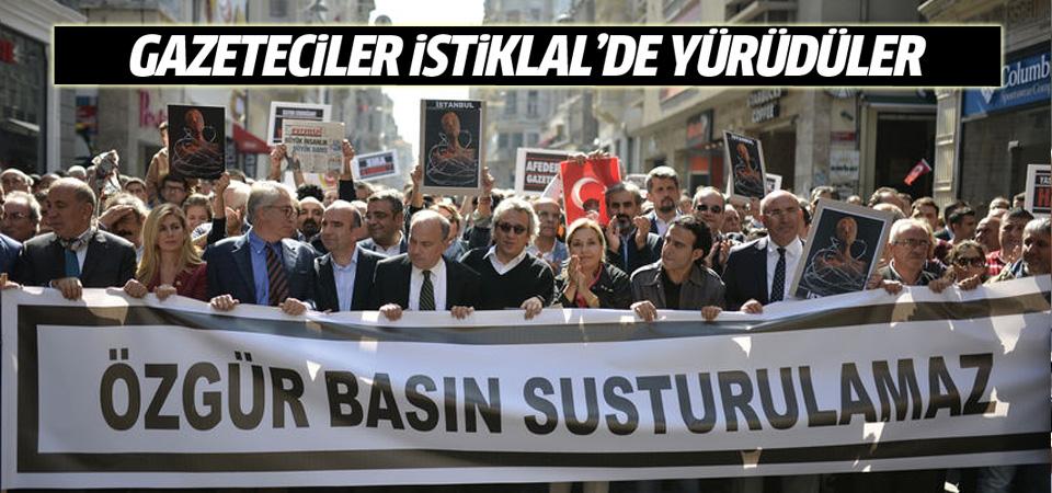 Gazeteciler yürüdü: Özgür basın susturulamaz