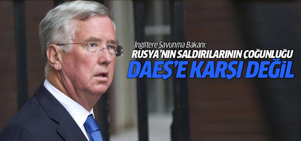 İngiltere Savunma Bakanı: Rusya'nın saldırıları DAEŞ'e karşı değil