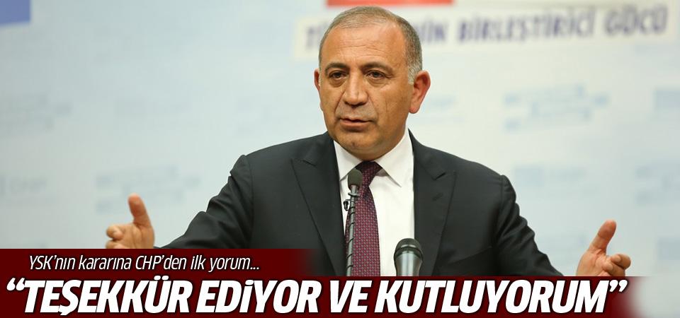 YSK'nın kararına CHP'den ilk yorum!