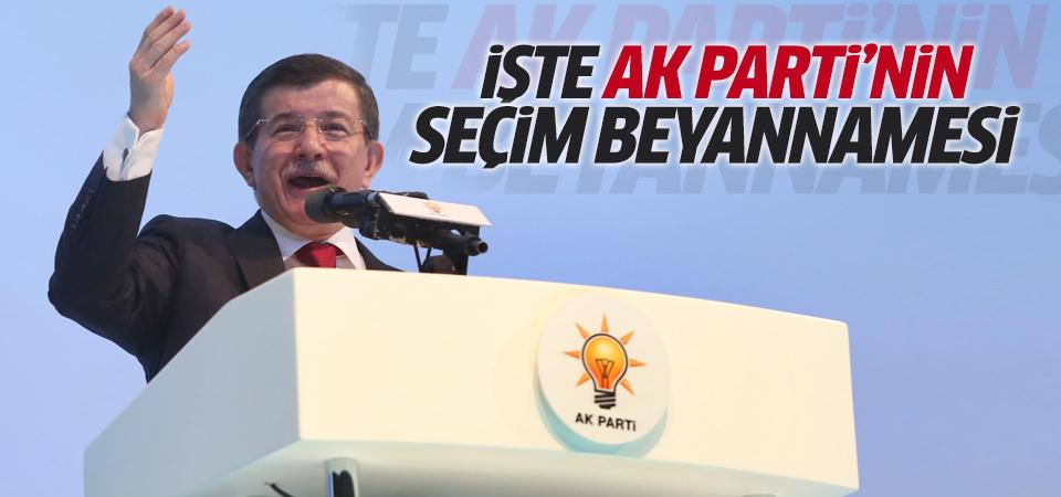 İşte AK Parti seçim beyannamesi