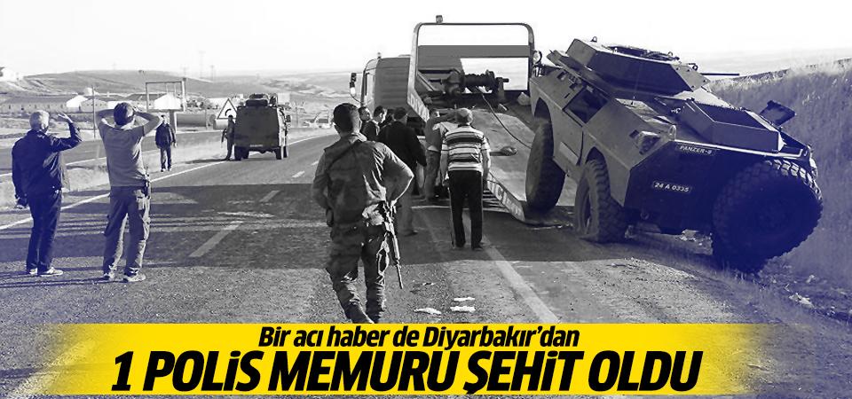 Diyarbakır'da 1 polis memuru şehit oldu!