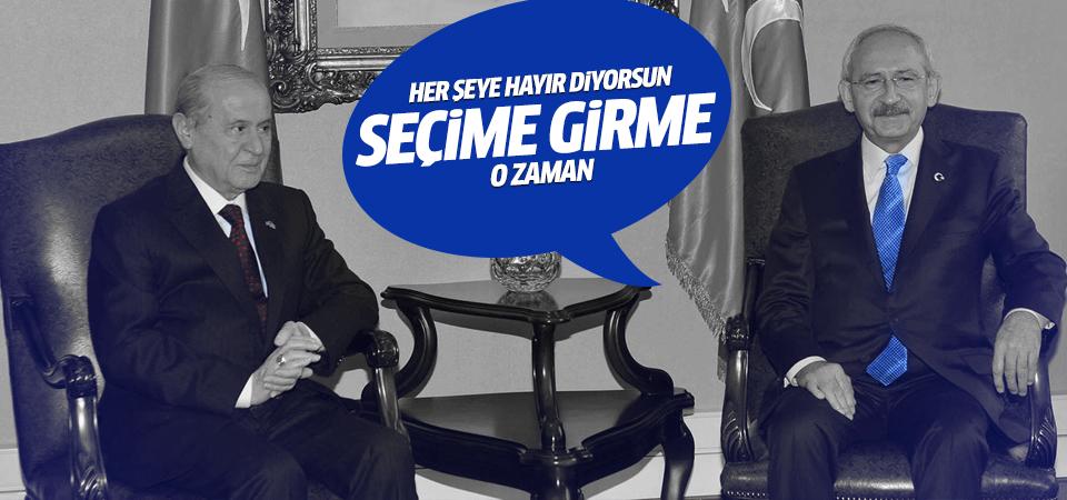 Kılıçdaroğlu'ndan Bahçeli'ye: Seçime girme