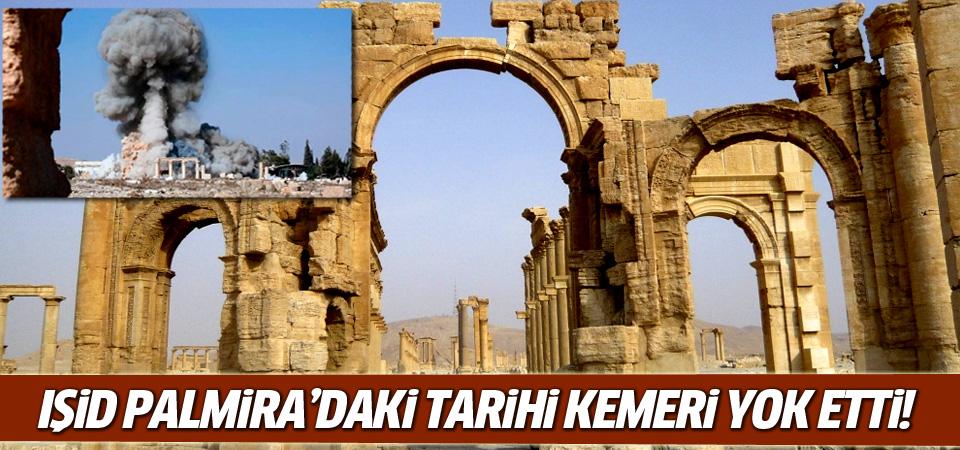 IŞİD Palmira'daki tarihi kemeri patlattı