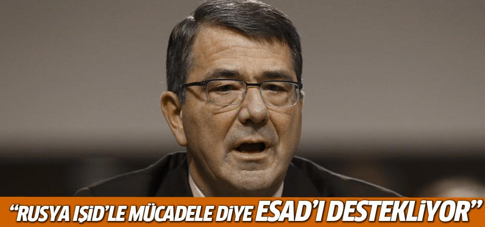 ABD Savunma Bakanı: Rusya IŞİD'le mücadele diye Esad'ı destekliyor
