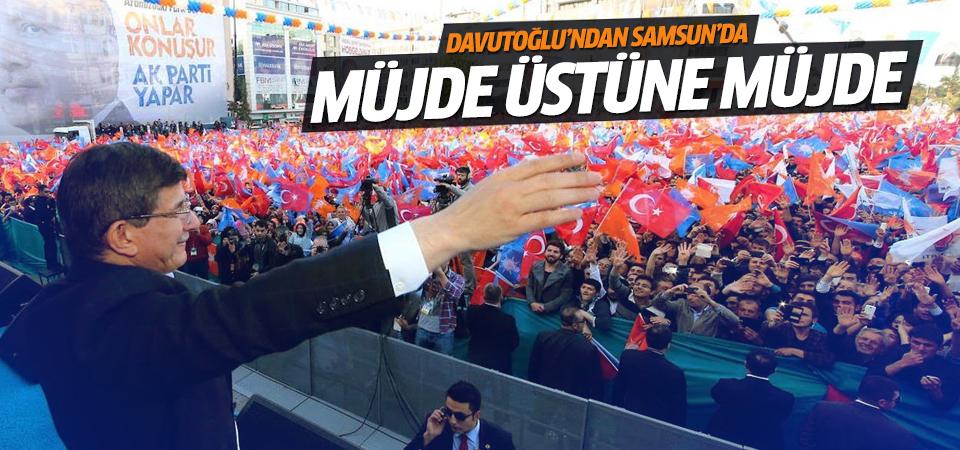 Davutoğlu Samsun'da konuştu