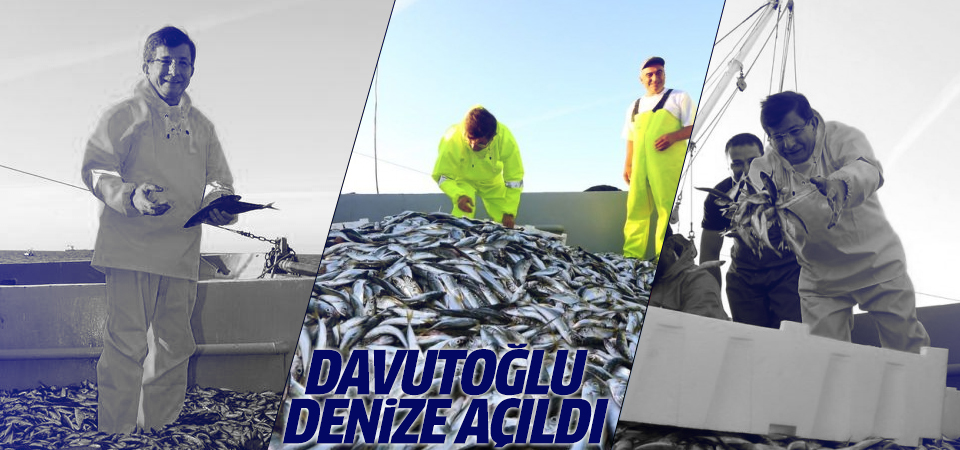 Davutoğlu Samsun'da denize açıldı
