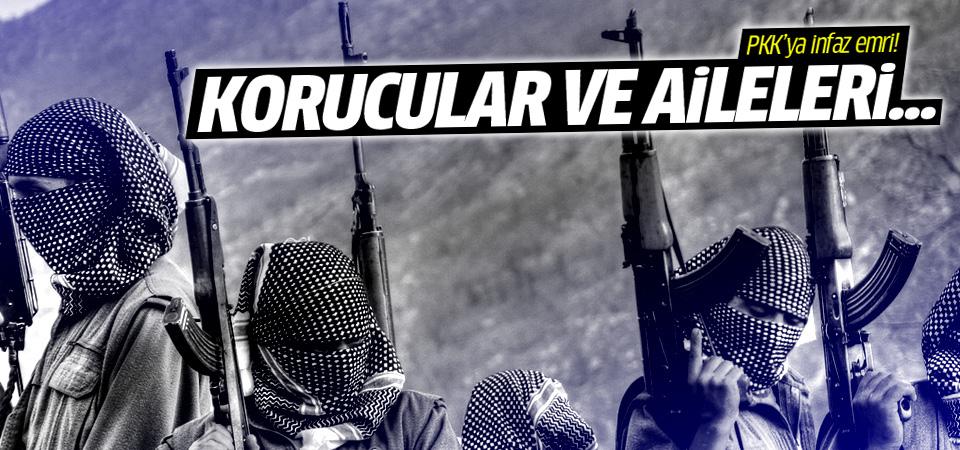 PKK'lılara 'korucuları ve ailelerini infaz edin' emri