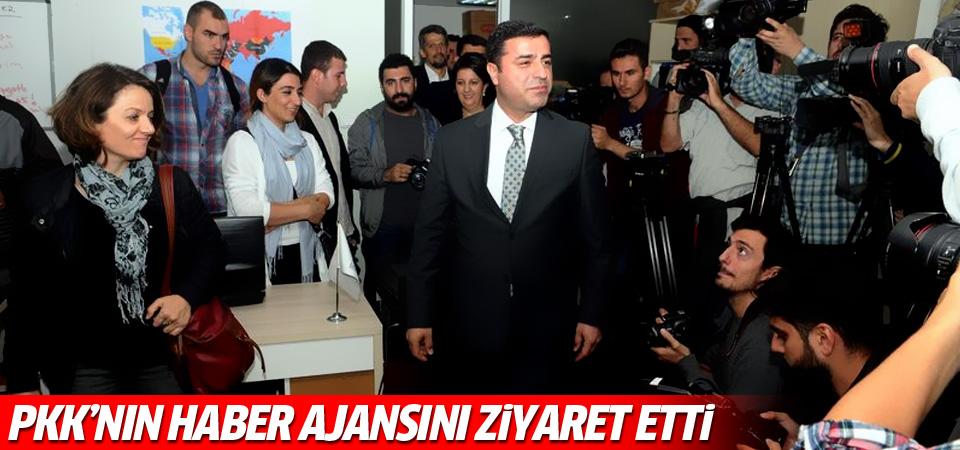 Demirtaş PKK'nın haber ajansını ziyaret etti