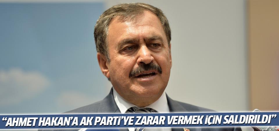 Eroğlu: Ahmet Hakan'a AK Parti'ye zarar vermek için saldırıldı