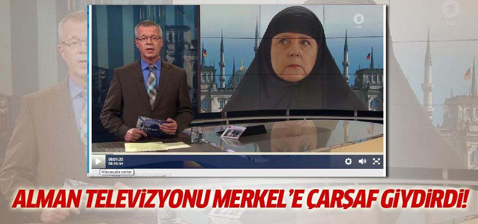 Alman televizyonu Angela Merkel'e çarşaf giydirdi