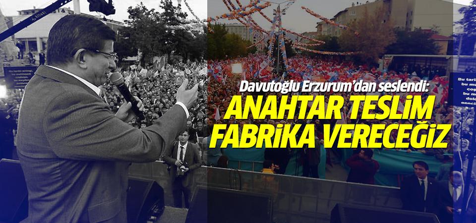 Başbakan Davutoğlu Erzurum'dan seslendi
