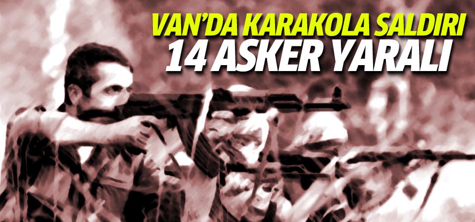 Van'da karakola saldırı: 14 yaralı