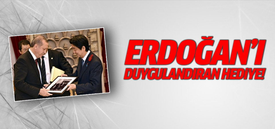 Erdoğan'ı duygulandıran hediye