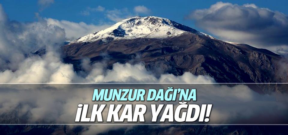 Munzur Dağı beyaza büründü!