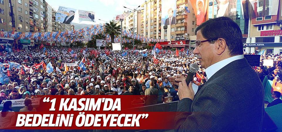 Başbakan Davutoğlu Kahramanmaraş'ta konuştu