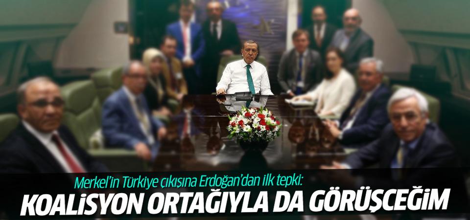 Erdoğan'dan Merkel'in Türkiye açıklamasına tepki