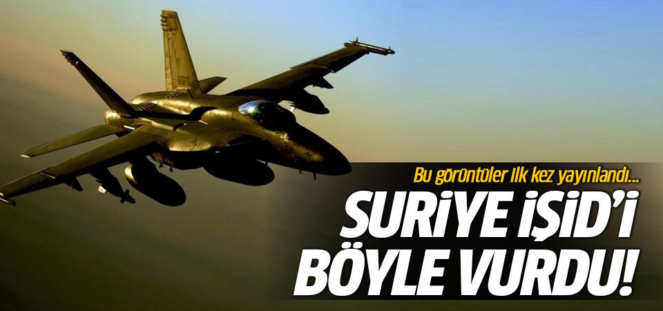 Rusya İŞİD bombardımanının görüntülerini yayınladı!