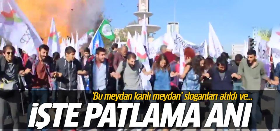 Ankara'daki patlama anı görüntüsü ortaya çıktı