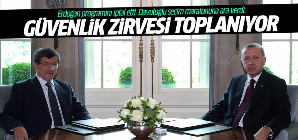 Erdoğan ve Davutoğlu programlarını iptal etti