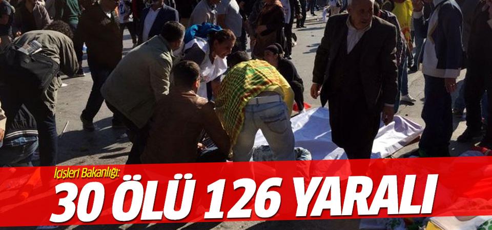 İçişleri Bakanlığı: 30 ölü 126 yaralı
