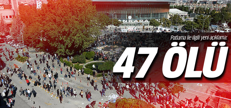 Başsavcı Kodalak'tan patlama açıklaması: 47 ölü var