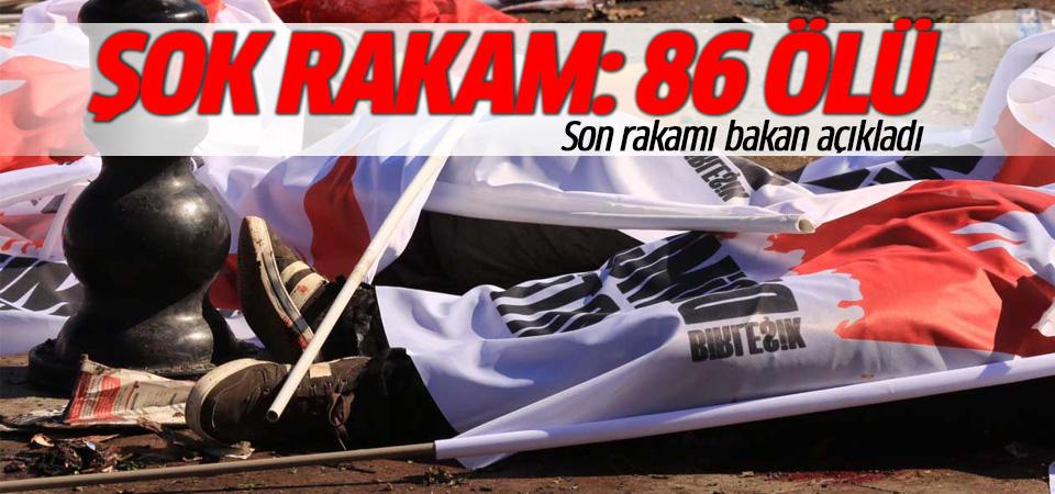 Bakan açıkladı: Ankara'daki patlamada ölü sayısı 86