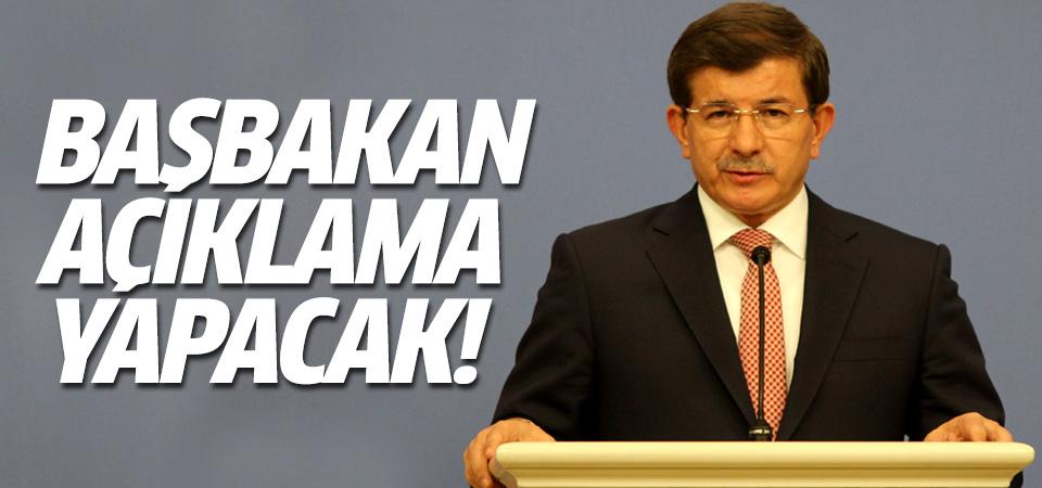 Davutoğlu patlamaya ilişkin açıklama yapacak