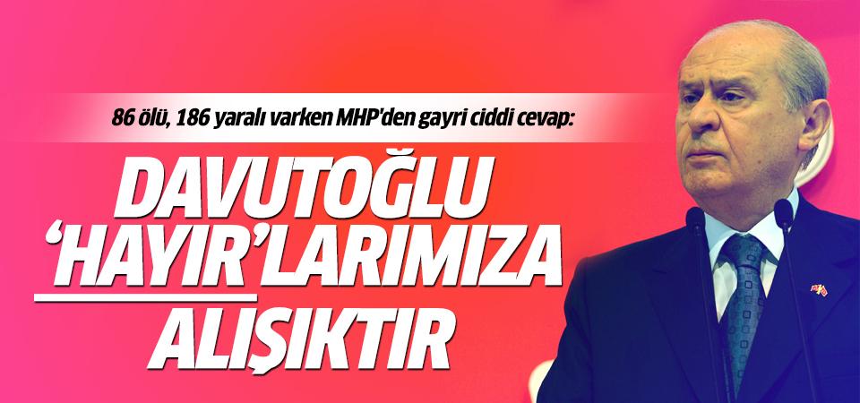 Davutoğlu'nun teklifini Bahçeli reddetti!