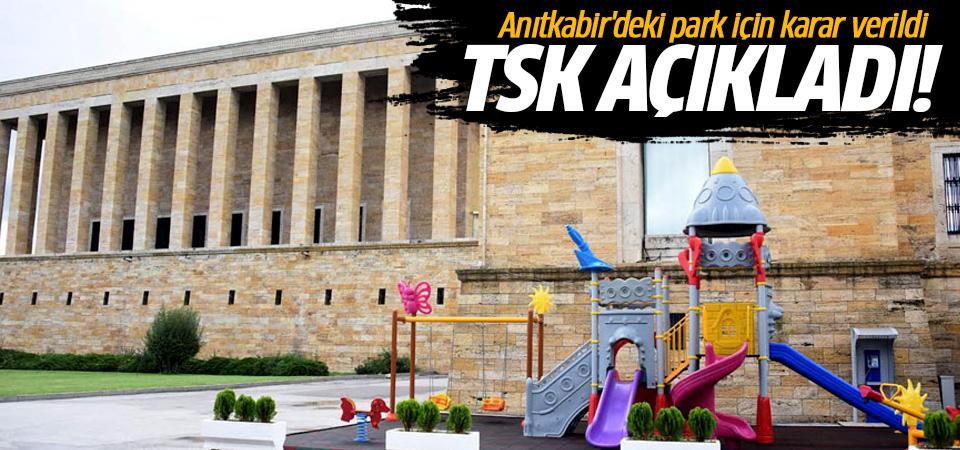 TSK: Anıtkabir'deki park kaldırılacak