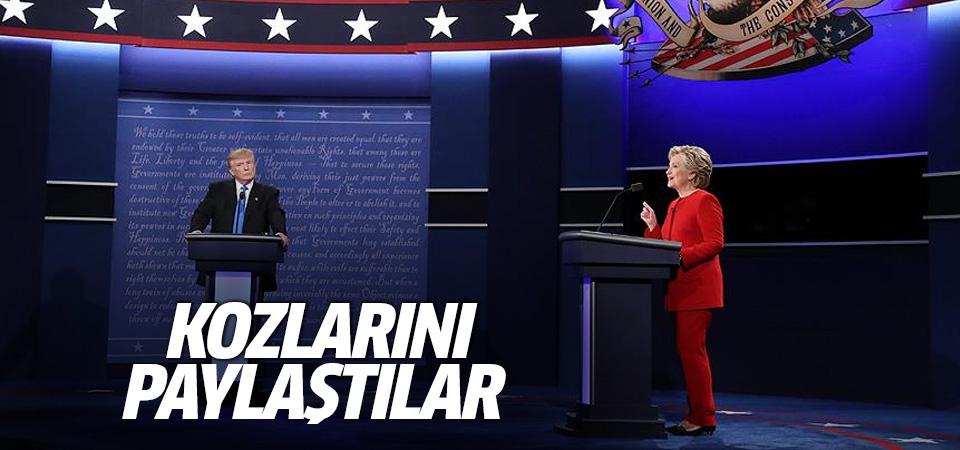 Clinton ile Trump kozlarını paylaştı!