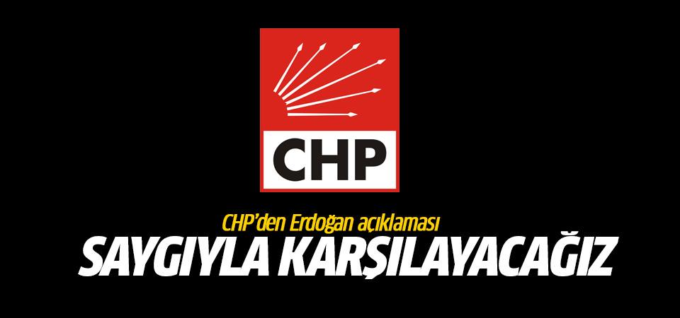 CHP'den Erdoğan açıklaması