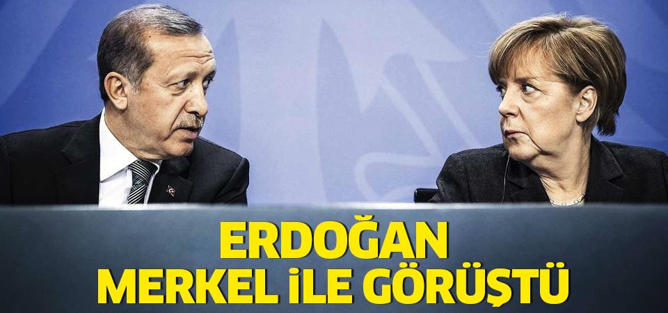 Cumhurbaşkanı Erdoğan ve Merkel Suriye'yi görüştü