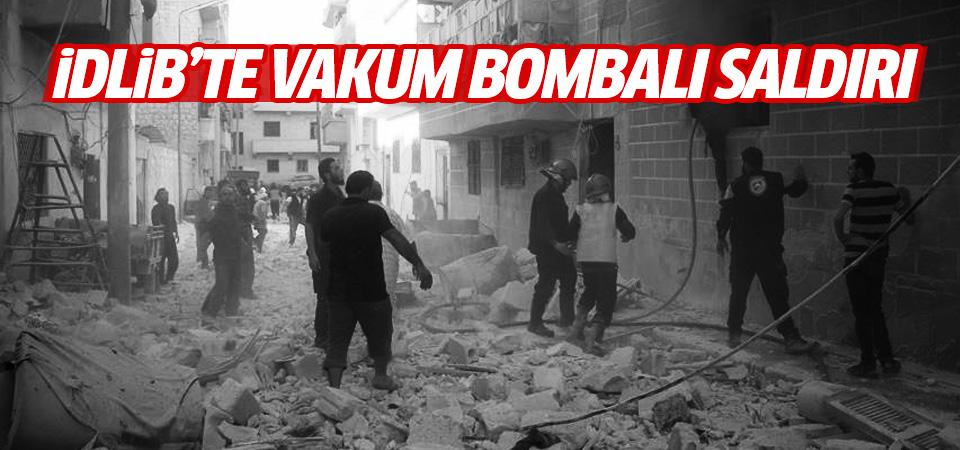 İdlib'te yerleşim yerine vakum bombalı saldırı: 20 ölü, 24 yaralı