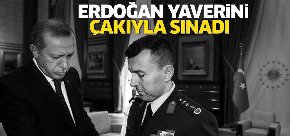 Cumhurbaşkanı Erdoğan, yaverini 'Çakı'yla sınadı