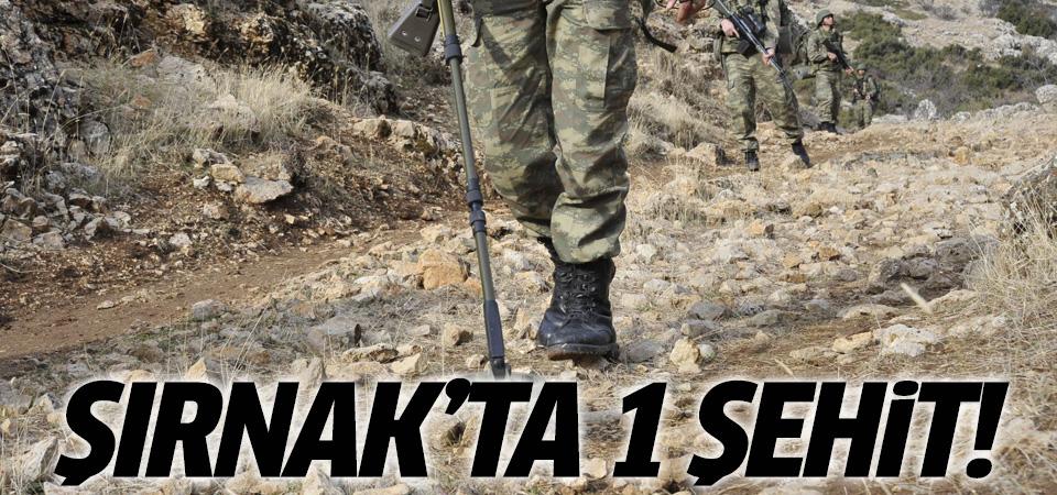 Şırnak'ta patlama: 1 korucu şehit!