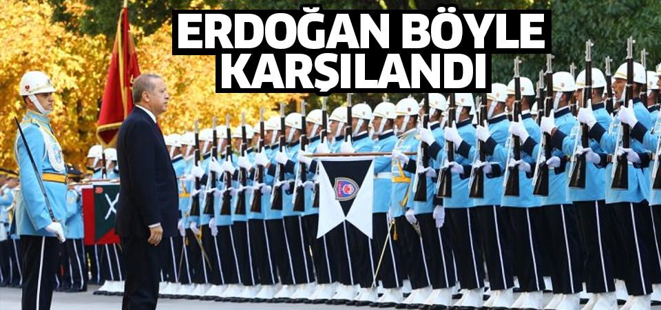 Cumhurbaşkanı Erdoğan böyle karşılandı