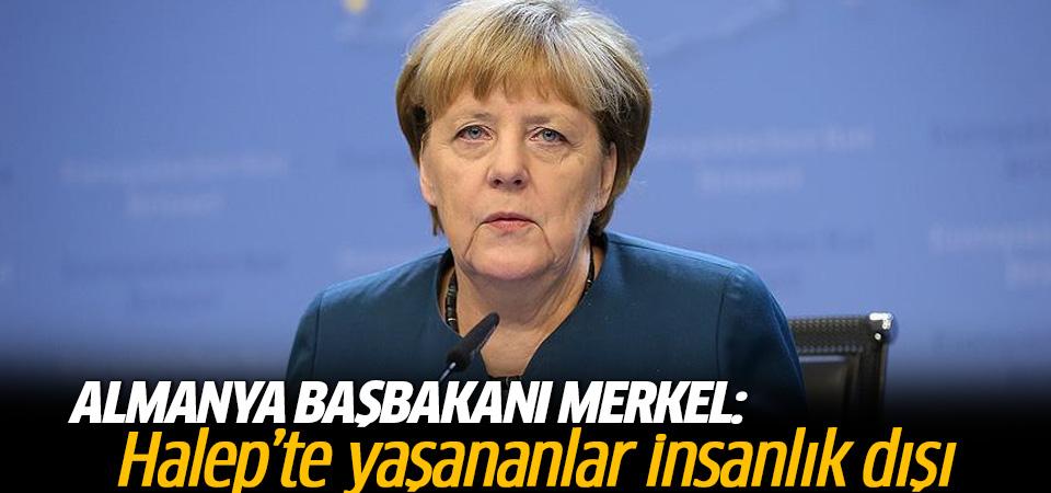 Merkel'den Halep açıklaması