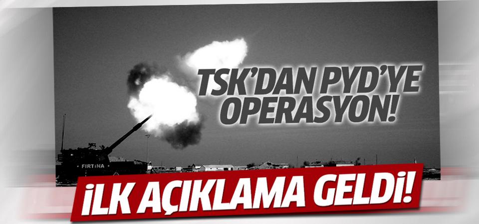 TSK: Suriye'de 70 PYD hedefi vuruldu