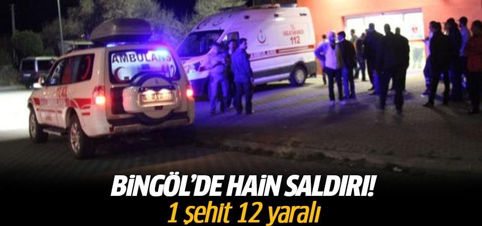 Bingöl'de hain saldırı!1 şehit 12 yaralı