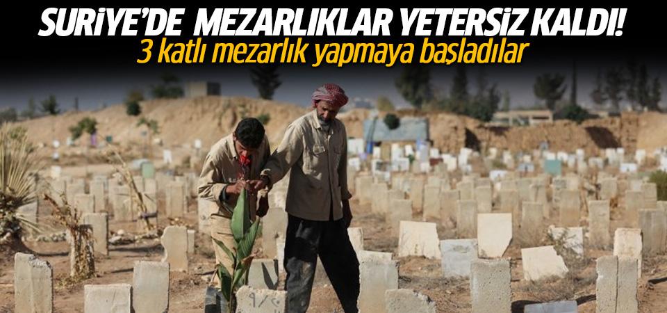 Suriye'de mezarlıklar yetersiz kalıyor