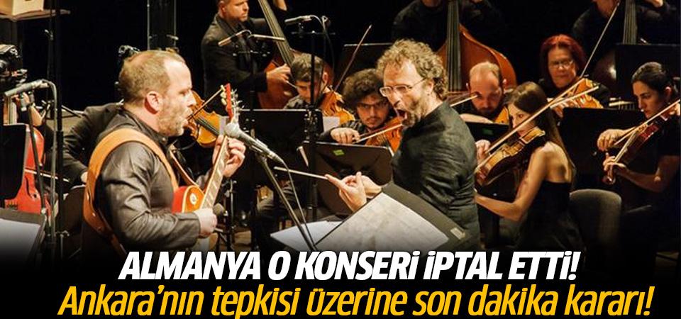Ankara'nın tepkisi üstüne o konser iptal!